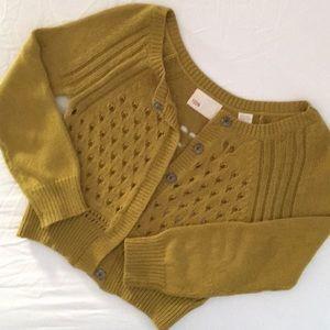 Anthropologie Yoon Cardigan Crop Sweater